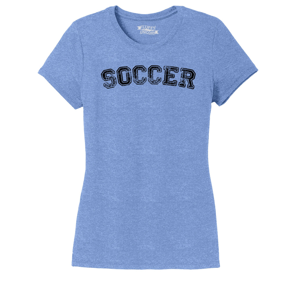Soccer Sports Goalie Shirt Ladies Short Sleeve Tri-Blend Shirt
