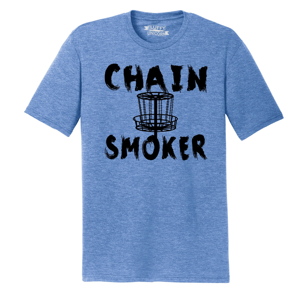 Chain Smoker Mens Short Sleeve Tri-Blend Shirt