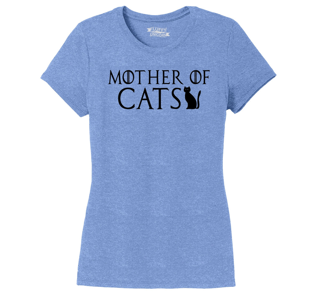 Mother Of Cats Ladies Short Sleeve Tri-Blend Shirt