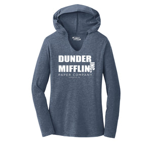 Dunder Mifflin Paper Company Ladies Tri-Blend Hooded Tee