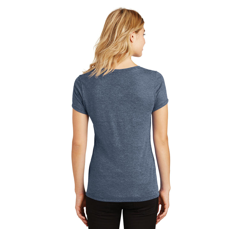 Why Be Moody When You Can Shake Your Booty Ladies Tri-Blend V-Neck Tee Shirt