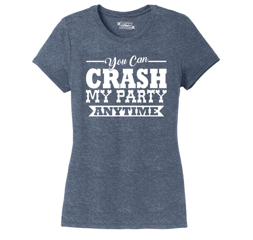 599685ce191c17 Crash My Party Anytime Shirt Country Song Concert Music Tee Ladies Short  Sleeve Tri-Blend