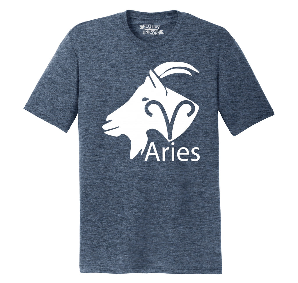 Aries Horoscope Shirt, March April Birthday Gift Tee Mens Short Sleeve Tri-Blend Shirt