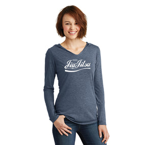 Enjoy Jiu Jitsu Parody Ladies Tri-Blend Hooded Tee