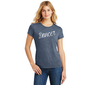 Dancer Ladies Short Sleeve Tri-Blend Shirt