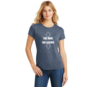 The Man The Legend Ladies Short Sleeve Tri-Blend Shirt