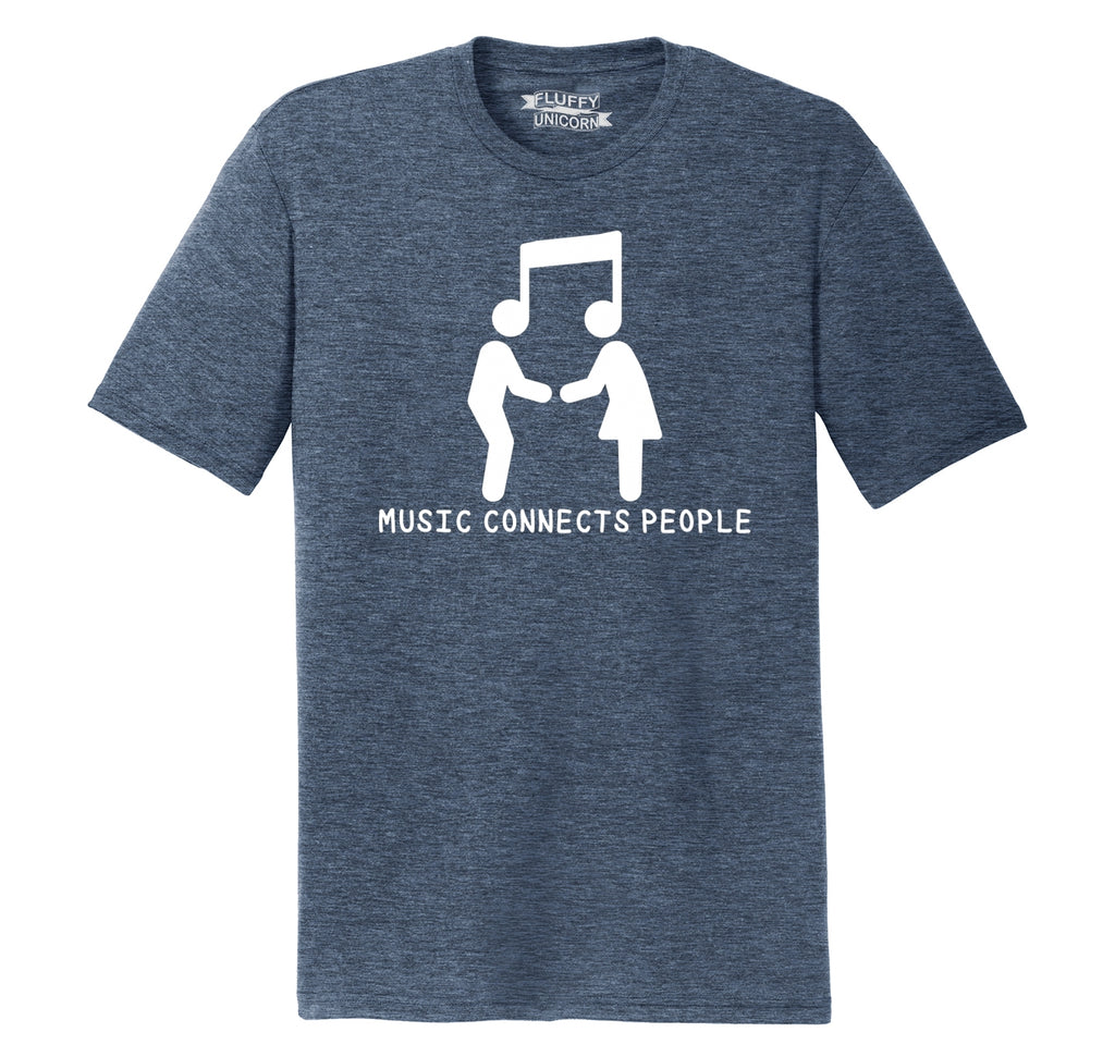 Music Connects People Mens Short Sleeve Tri-Blend Shirt