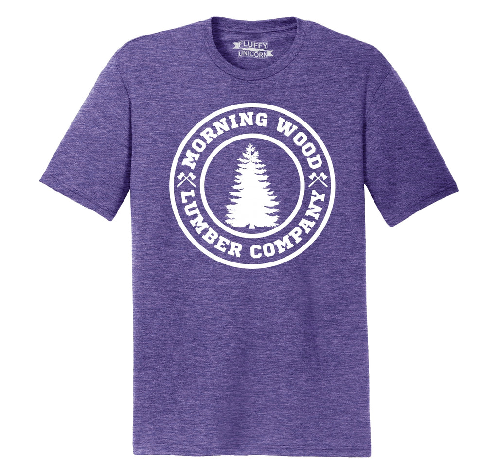Morning Wood Lumber Company Mens Short Sleeve Tri-Blend Shirt