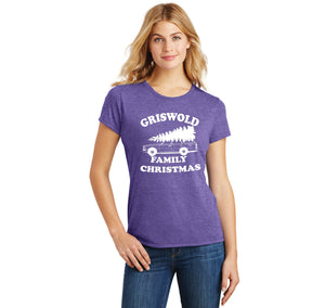 Griswold Family Christmas Ladies Short Sleeve Tri-Blend Shirt