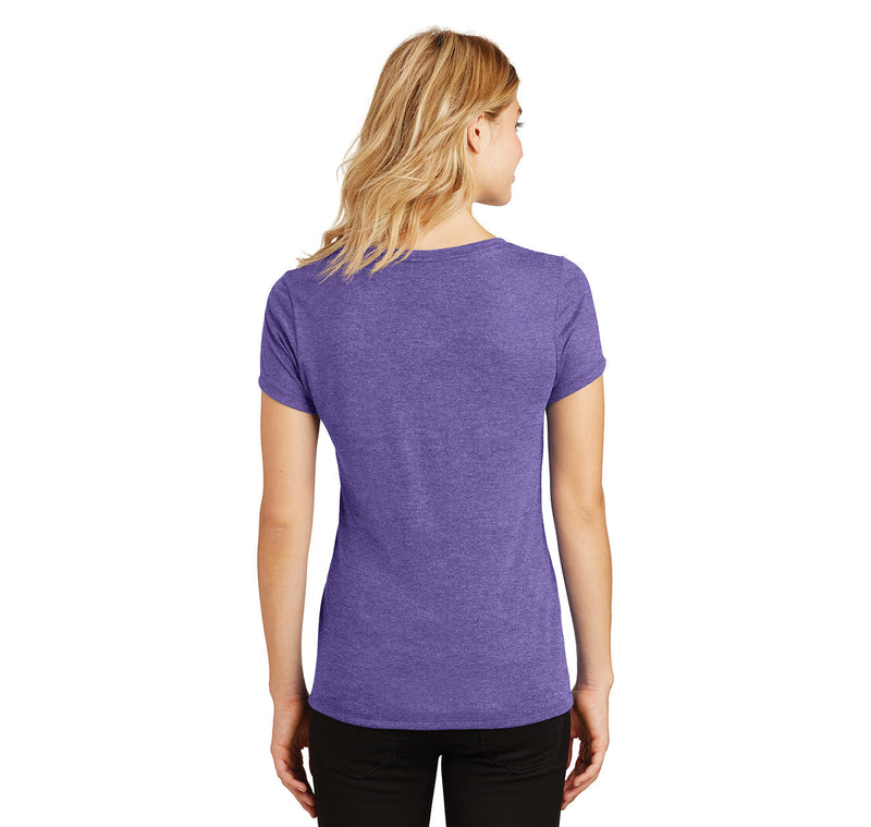Walk Up To The Club Like What Up I Want To Go Home Ladies Tri-Blend V-Neck Tee Shirt