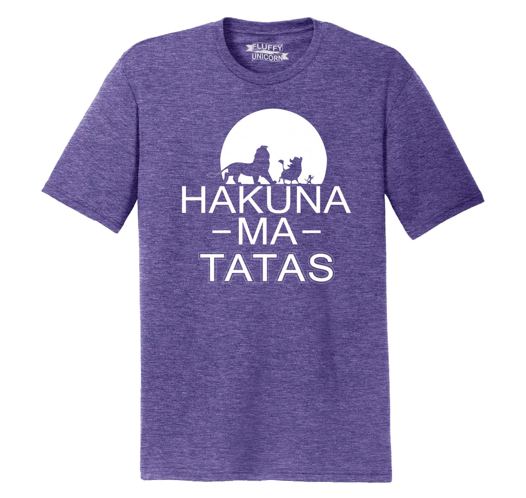 Hakuna Ma Tatas Mens Short Sleeve Tri-Blend Shirt