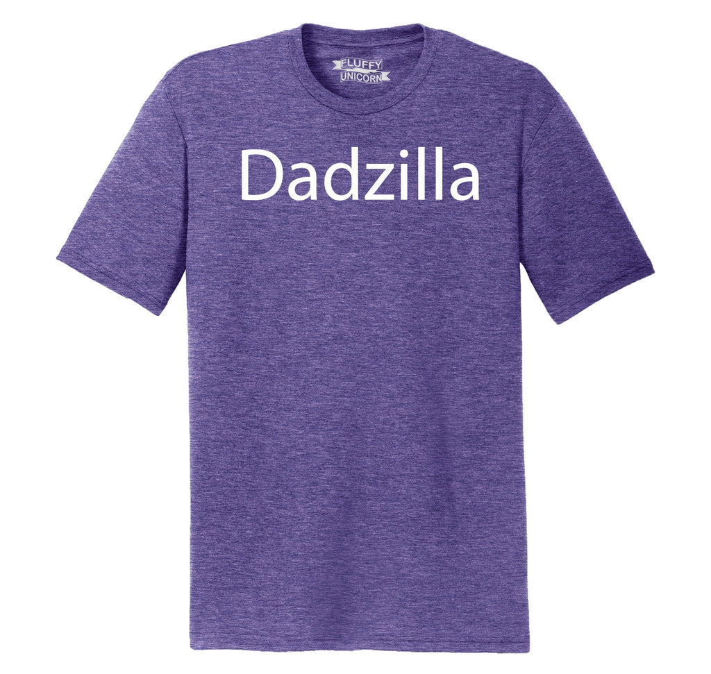 Dadzilla Tee Father's Day Valentine's Day Husband Dad Gift Tee Mens Short Sleeve Tri-Blend Shirt