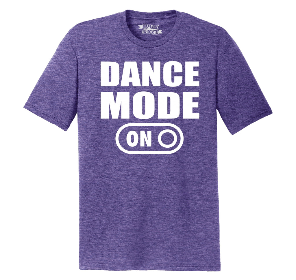 Dance Mode On Mens Short Sleeve Tri-Blend Shirt