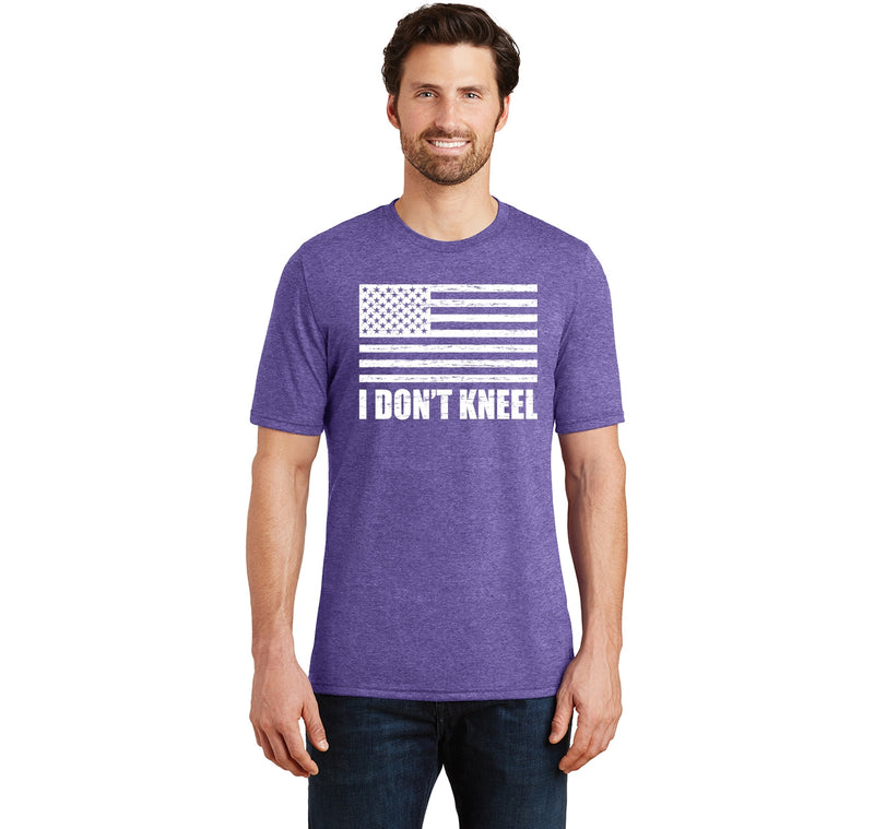 I Don't Kneel Mens Short Sleeve Tri-Blend Shirt