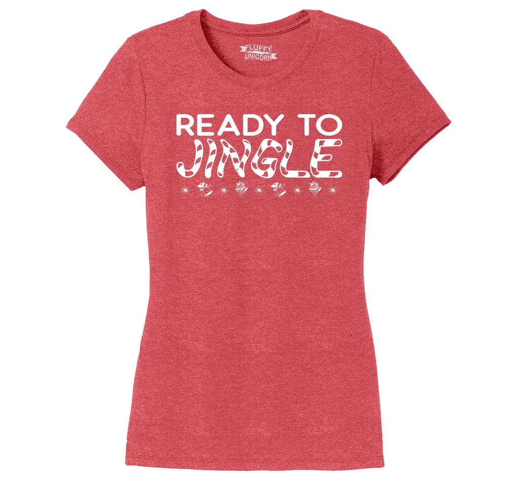 Ready To Jingle Ladies Short Sleeve Tri-Blend Shirt