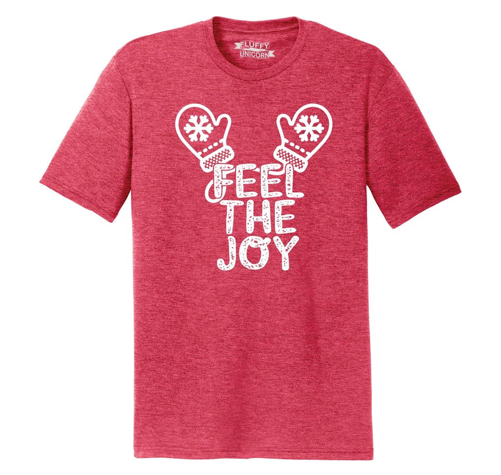 Feel The Joy Mens Short Sleeve Tri-Blend Shirt