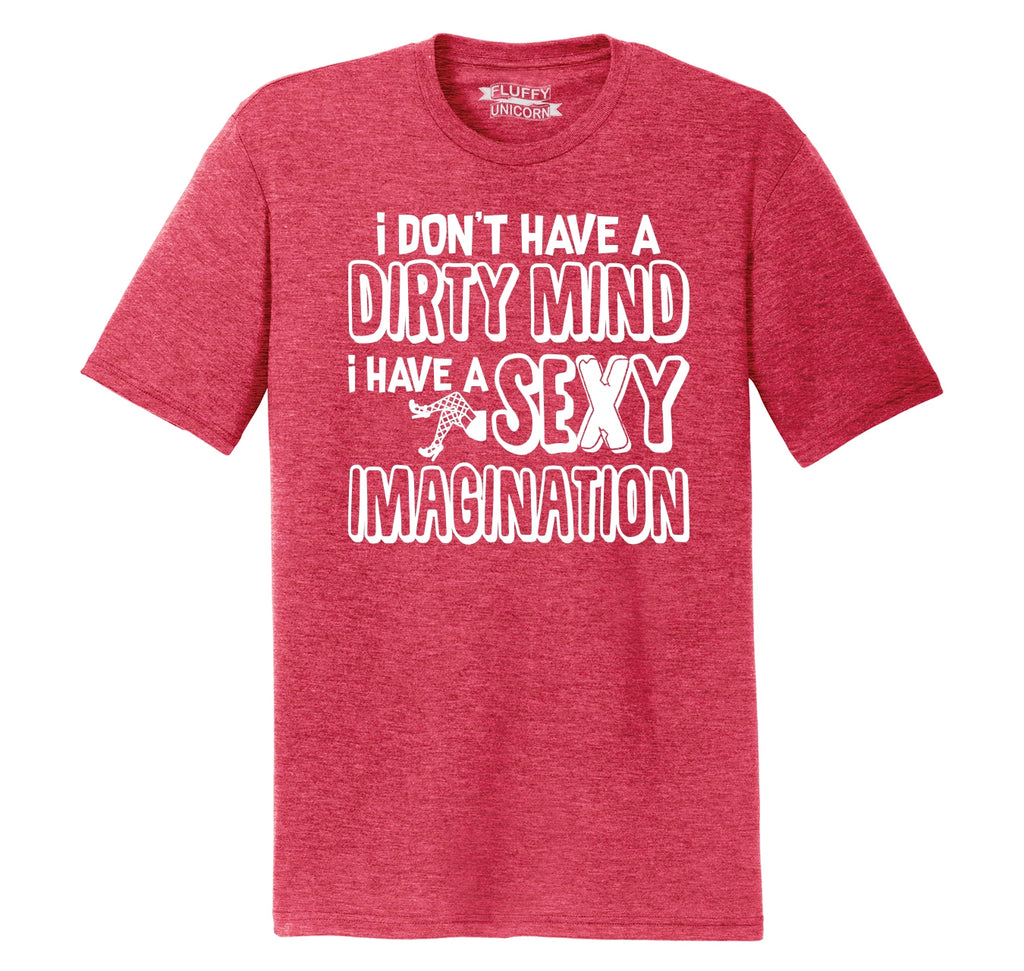 Don't Have Dirty Mind Sexy Imagination Mens Short Sleeve Tri-Blend Shirt