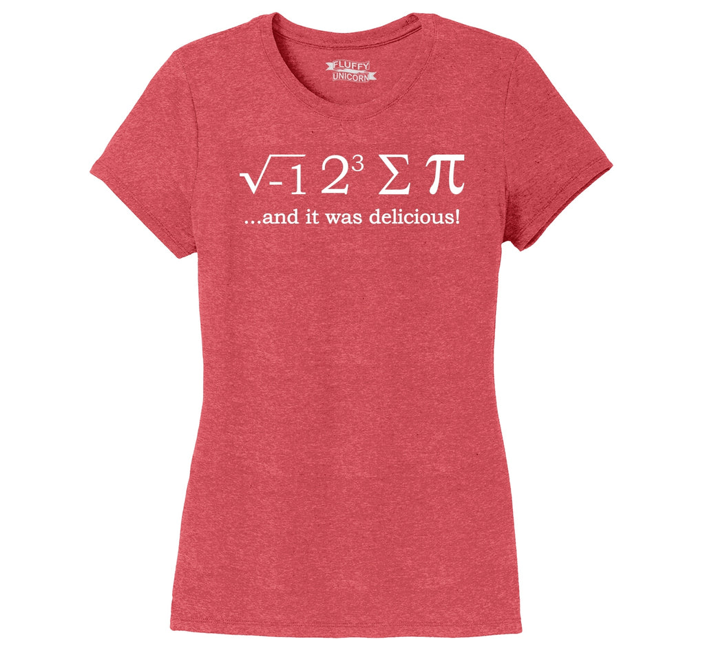 I 8 Sum Pi Ladies Short Sleeve Tri-Blend Shirt