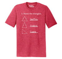 Name The Triangles Geoffrey Frederick Eugene Mens Short Sleeve Tri-Blend Shirt