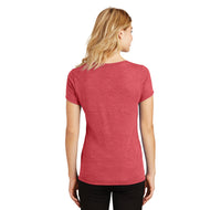 Love Bowling Ladies Tri-Blend V-Neck Tee Shirt
