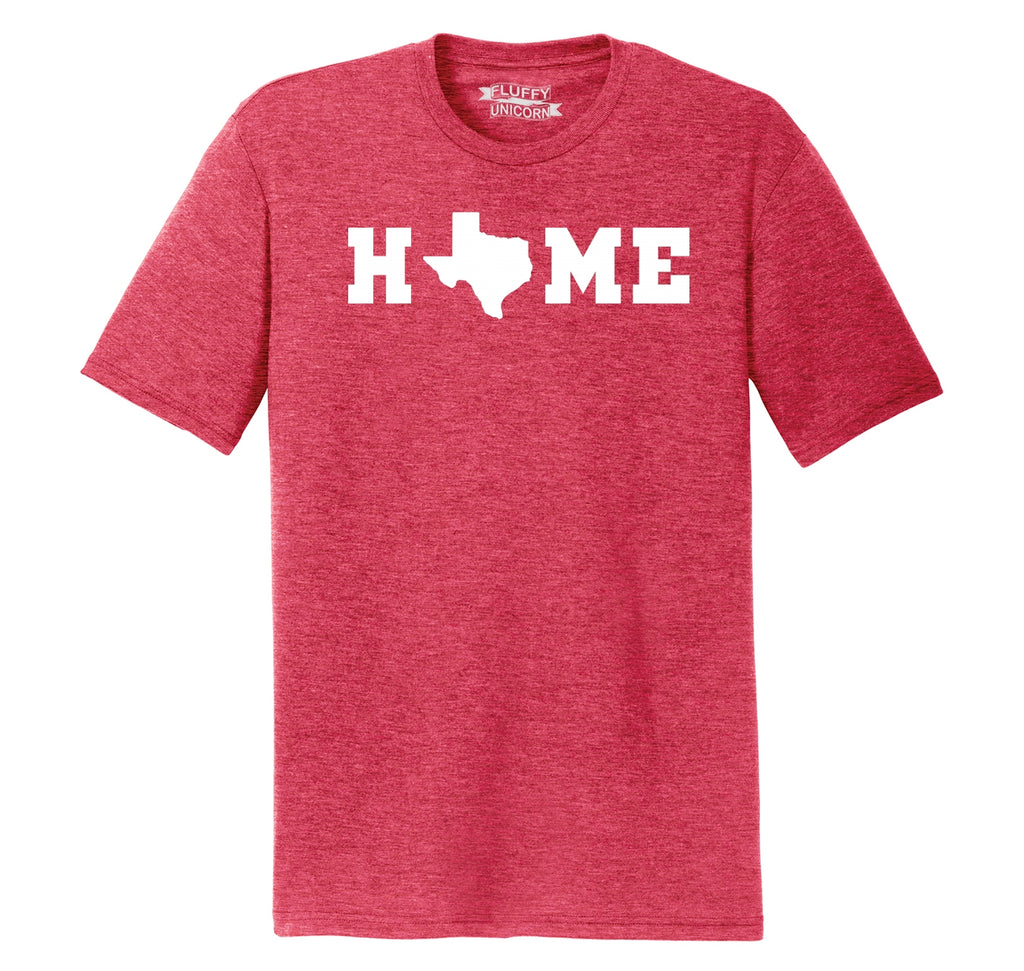 Home Texas Shape O Mens Short Sleeve Tri-Blend Shirt