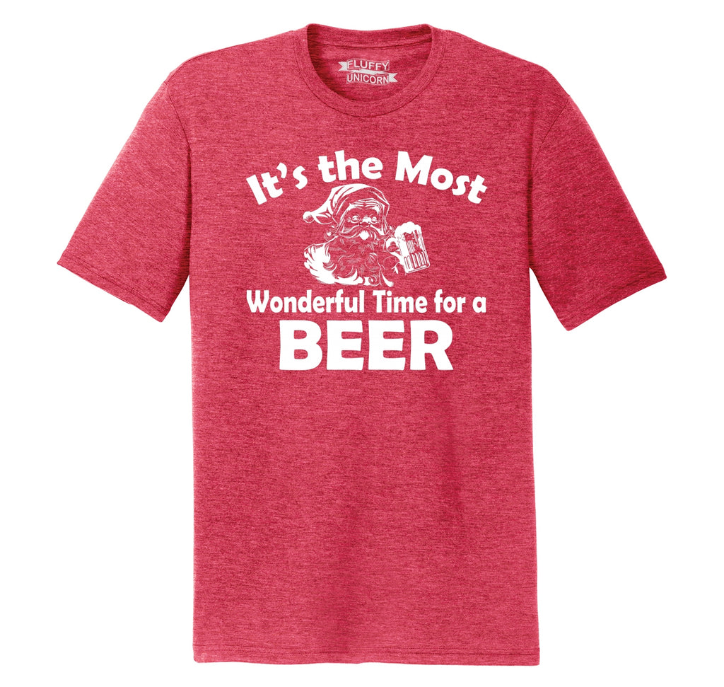 It's The Most Wonderful Time For A Beer Mens Short Sleeve Tri-Blend Shirt
