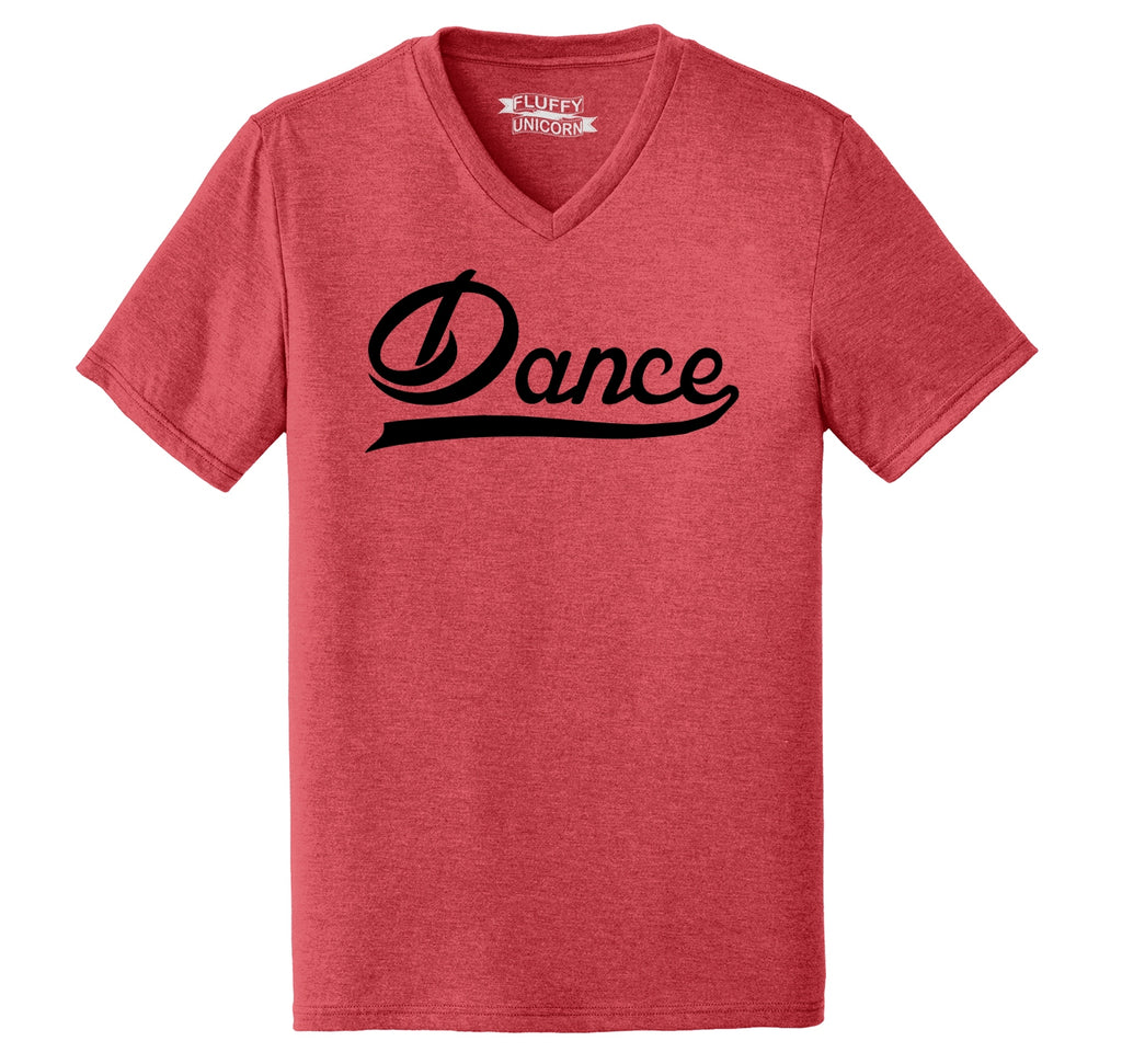 Dance Mens Tri-Blend V-Neck Tee Shirt