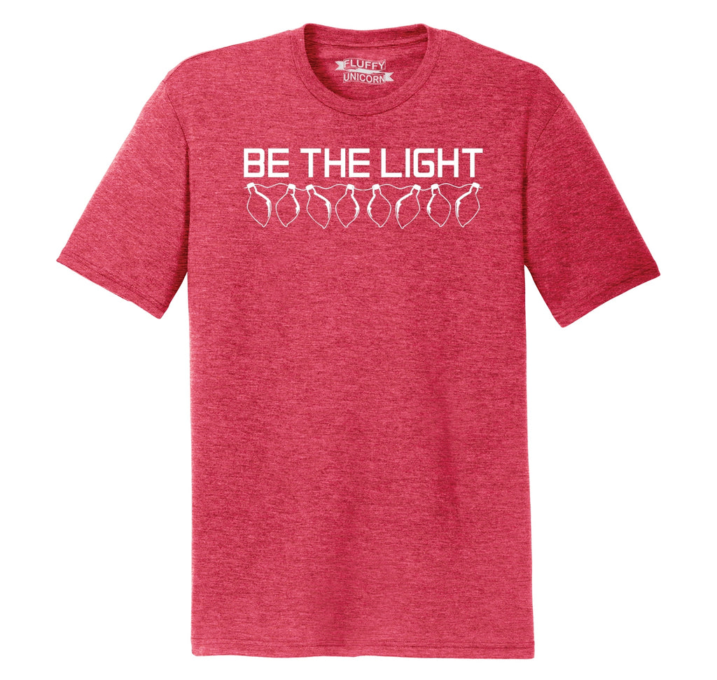 Be The Light Mens Short Sleeve Tri-Blend Shirt