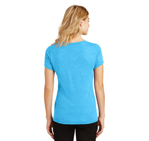Hollow Point Ladies Tri-Blend V-Neck Tee Shirt