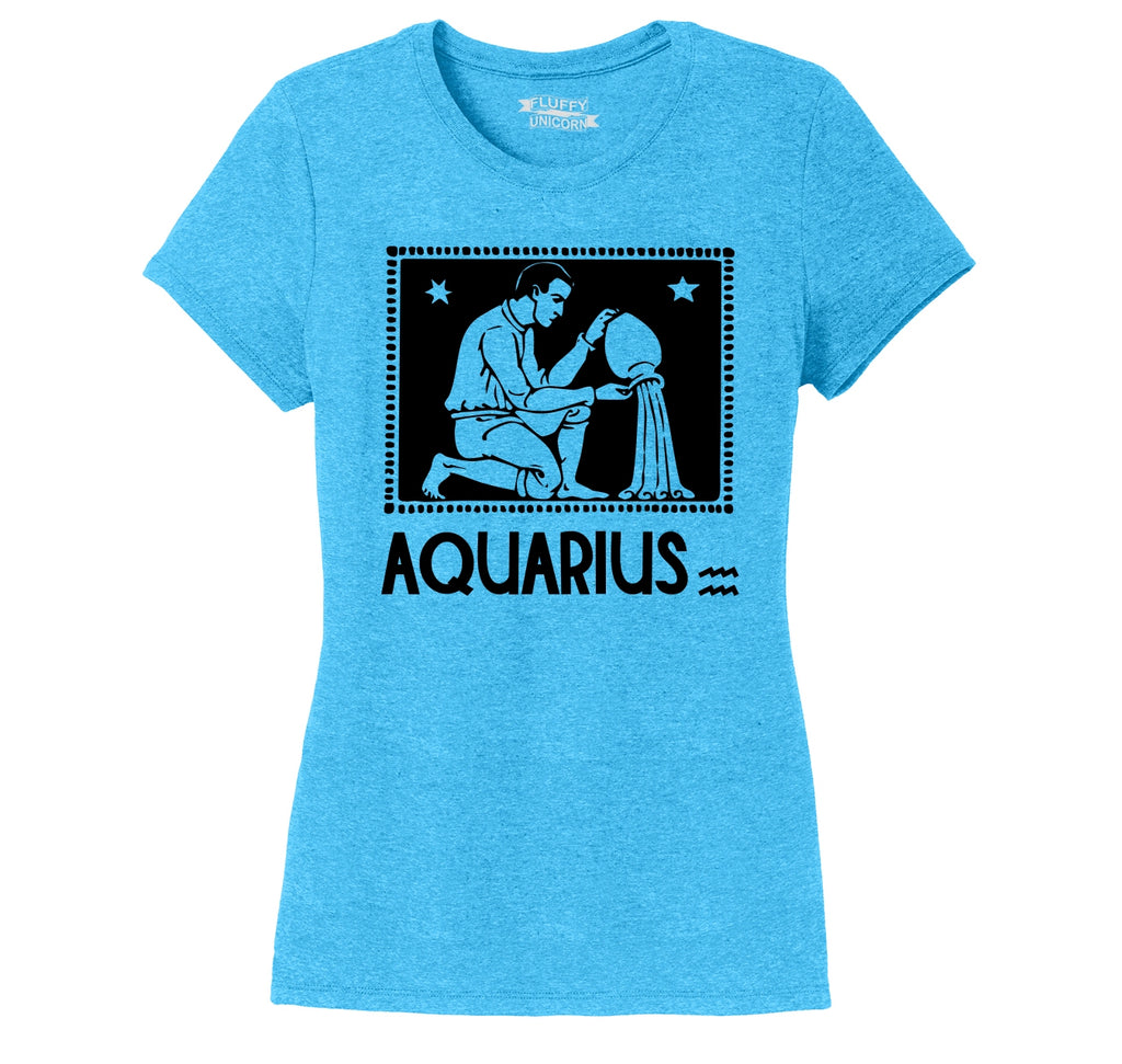 Horoscope Aquarius Tee Ladies Short Sleeve Tri-Blend Shirt