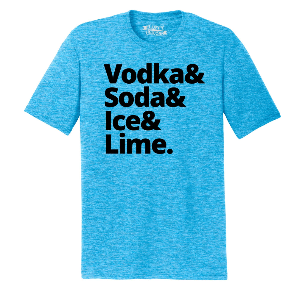 Vodka Soda Ice And Lime Mens Short Sleeve Tri-Blend Shirt