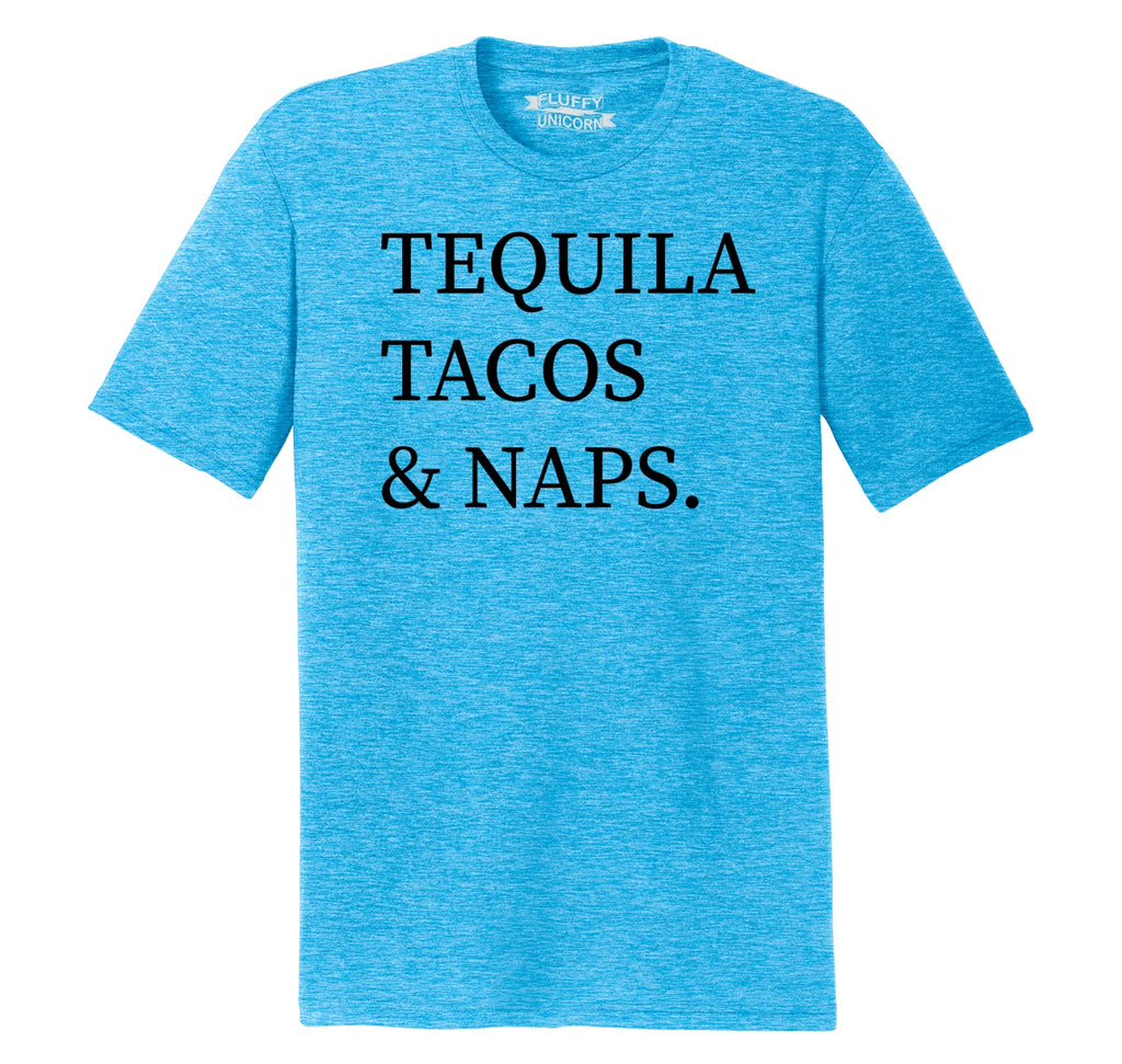 Tequila Tacos And Naps Mens Short Sleeve Tri-Blend Shirt