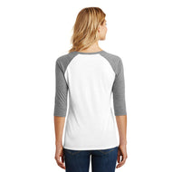 College Ladies Tri-Blend 3/4 Sleeve Raglan