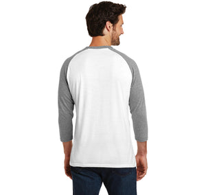 Why Be Moody When You Can Shake Your Booty Mens Tri-Blend 3/4 Sleeve Raglan