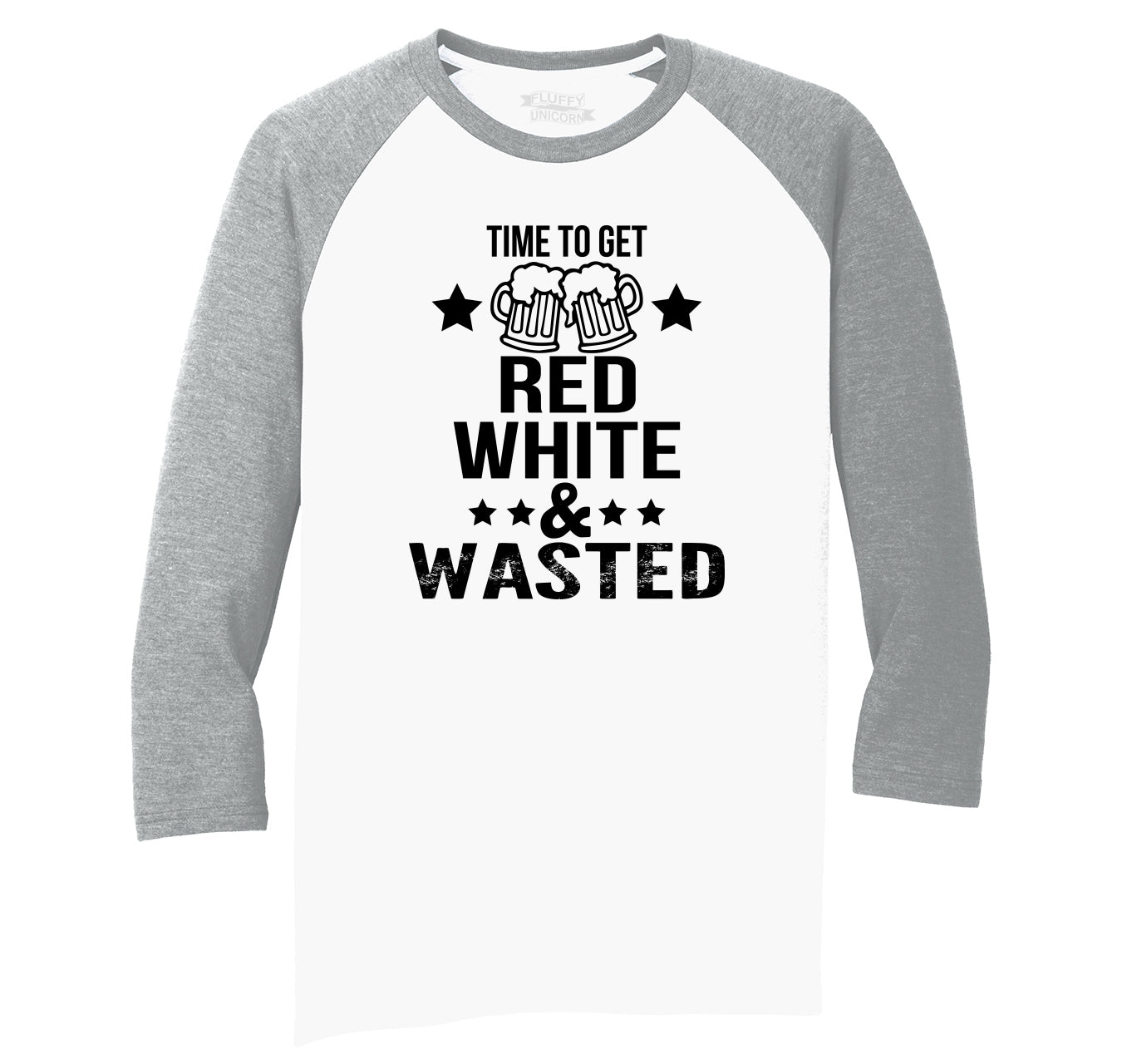 efee3c6b6e Time To Get Red White & Wasted Funny July 4th Party Patriotic USA Shirt Mens  Tri