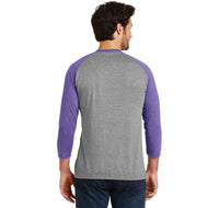 Intelligent Classy Woman Says Fuck A Lot Mens Tri-Blend 3/4 Sleeve Raglan