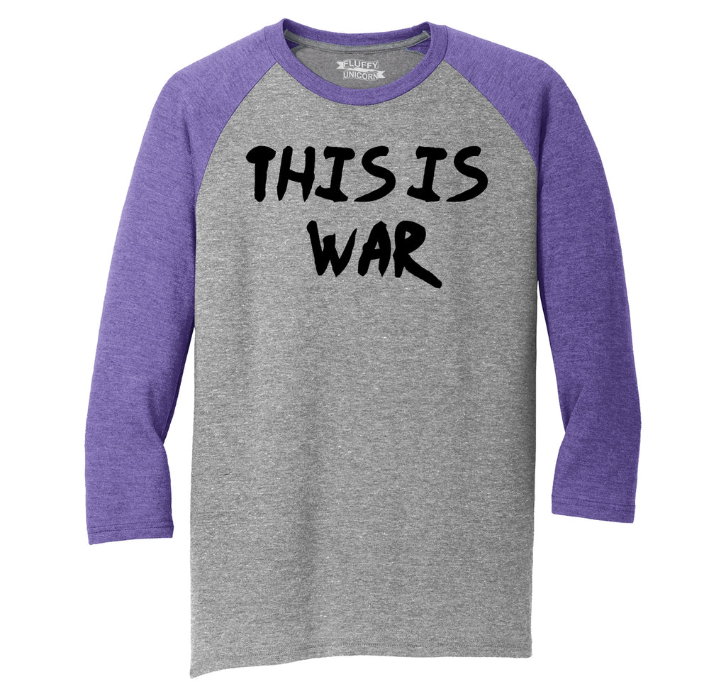 This Is War Anti Trump Political Protest Tee Mens Tri-Blend 3/4 Sleeve Raglan