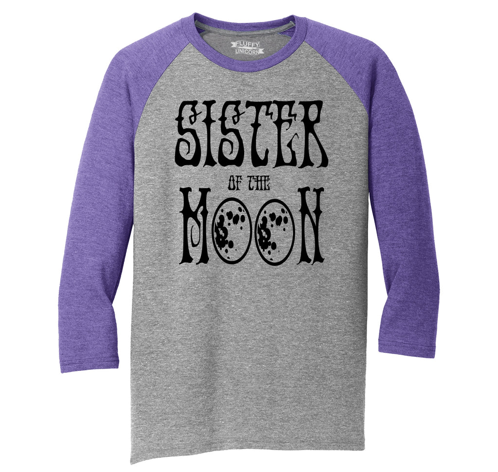 Sister Of The Moon Mens Tri-Blend 3/4 Sleeve Raglan