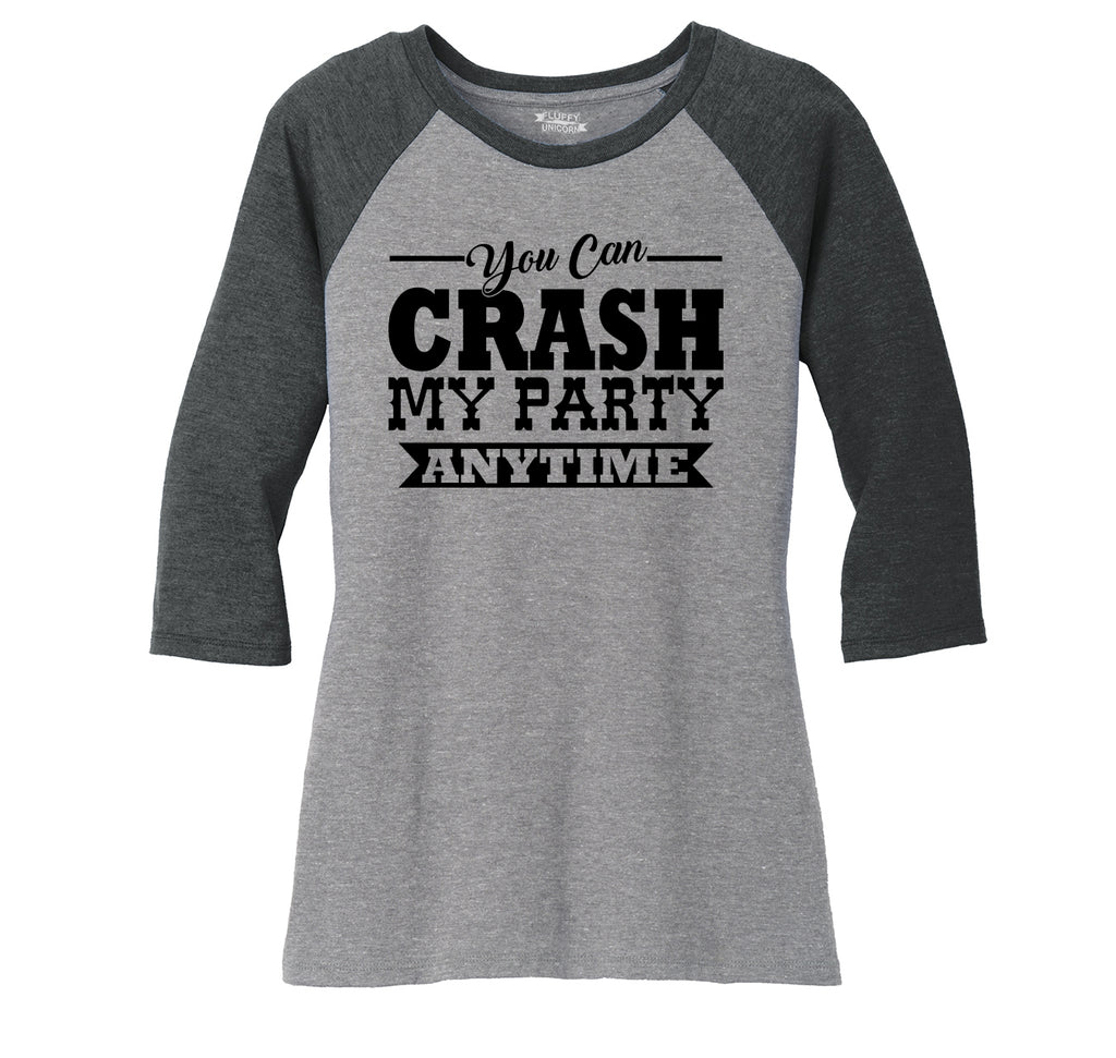 d68423f8e33e9e Crash My Party Anytime Shirt Country Song Concert Music Tee Ladies  Tri-Blend 3