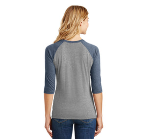 Go Shawty It's Sherbert Day Ladies Tri-Blend 3/4 Sleeve Raglan
