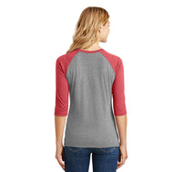 Enjoy A Choke Parody Ladies Tri-Blend 3/4 Sleeve Raglan