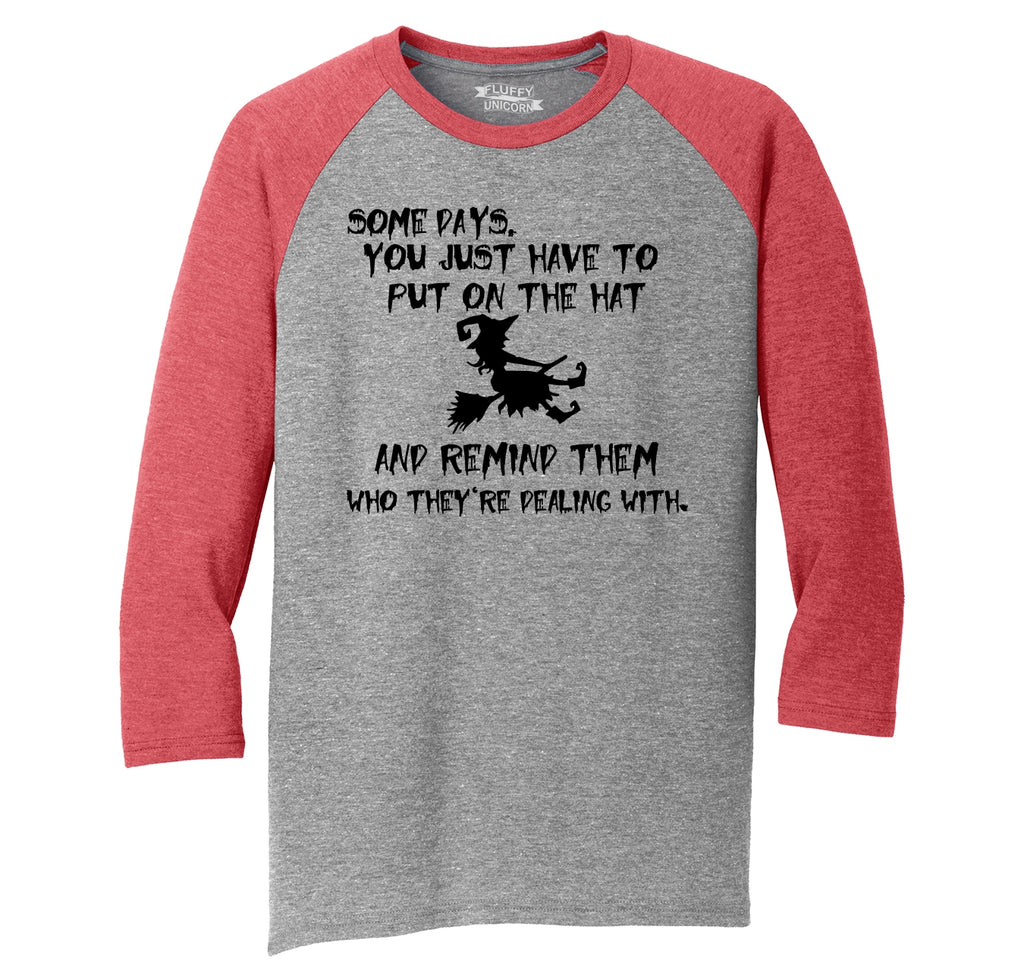 Some Days Need To Remind Who They're Dealing With Mens Tri-Blend 3/4 Sleeve Raglan