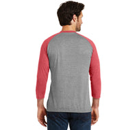 Have Yourself A Merry Little Christmas Mens Tri-Blend 3/4 Sleeve Raglan