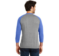 Fart Now Loading Mens Tri-Blend 3/4 Sleeve Raglan