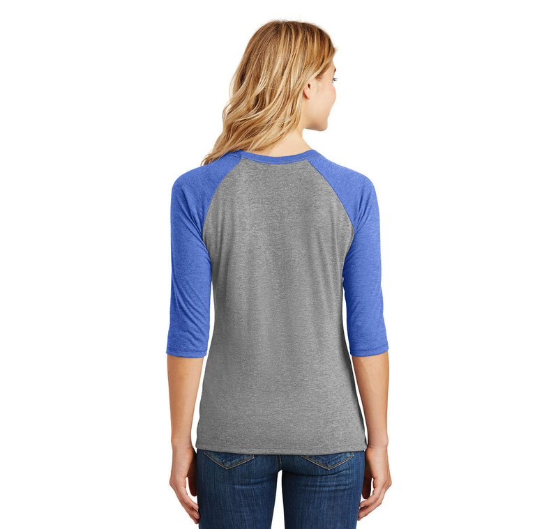 ASS The Other Vagina Ladies Tri-Blend 3/4 Sleeve Raglan