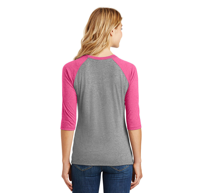 Once You Have My Meat In Your Mouth You'll Want To Swallow Ladies Tri-Blend 3/4 Sleeve Raglan