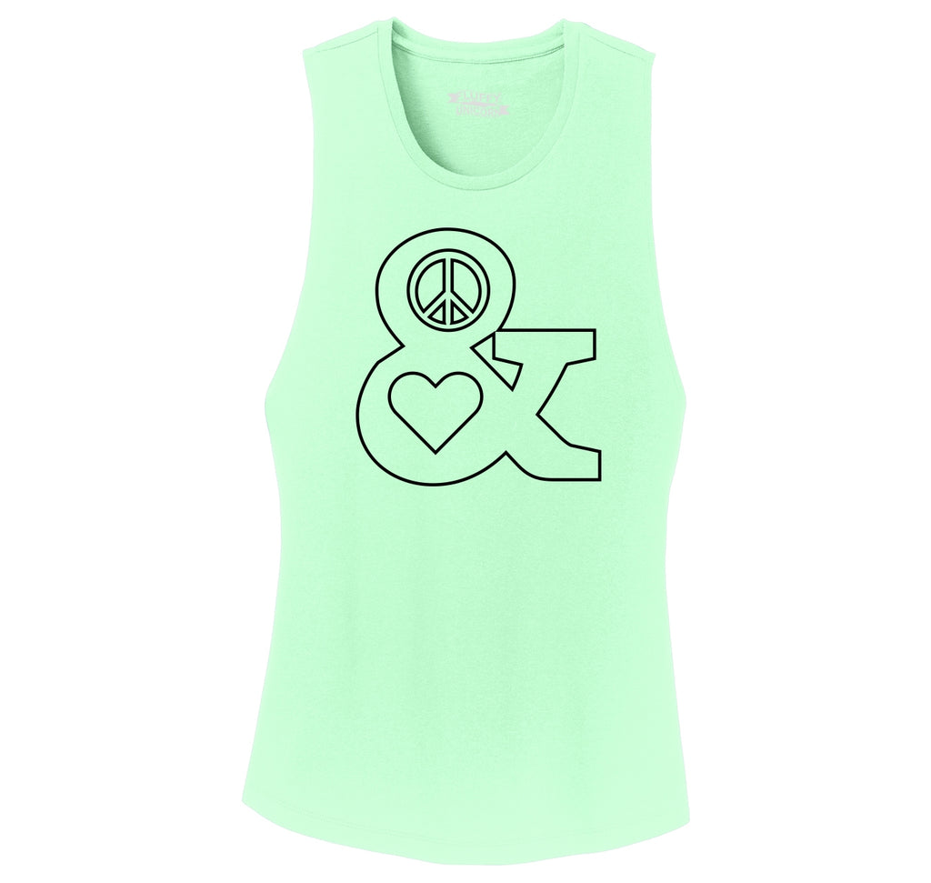 Peace and Love Ladies Festival Tank Top