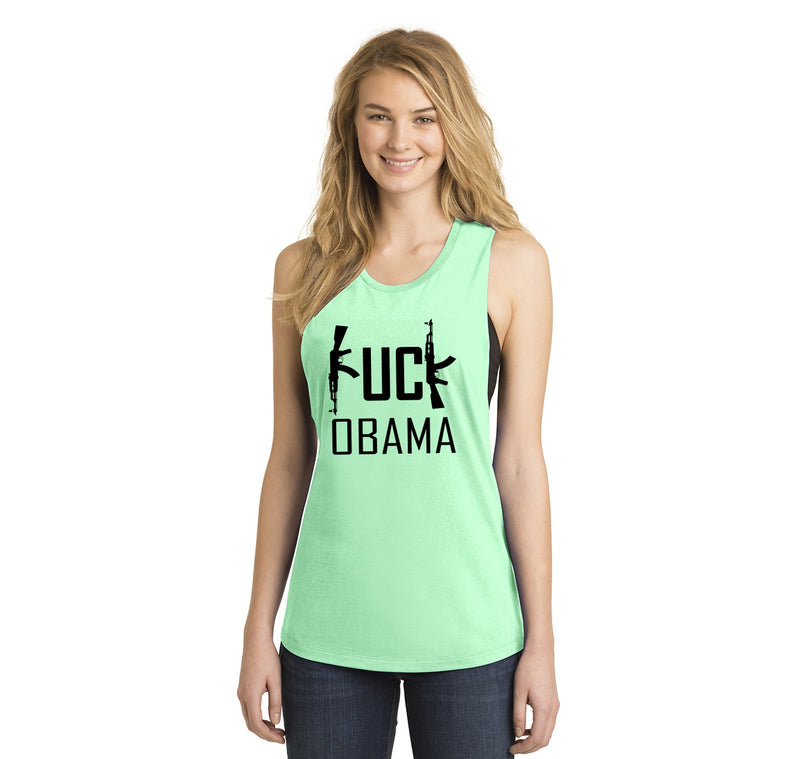 Fuck Obama Ladies Festival Tank Top
