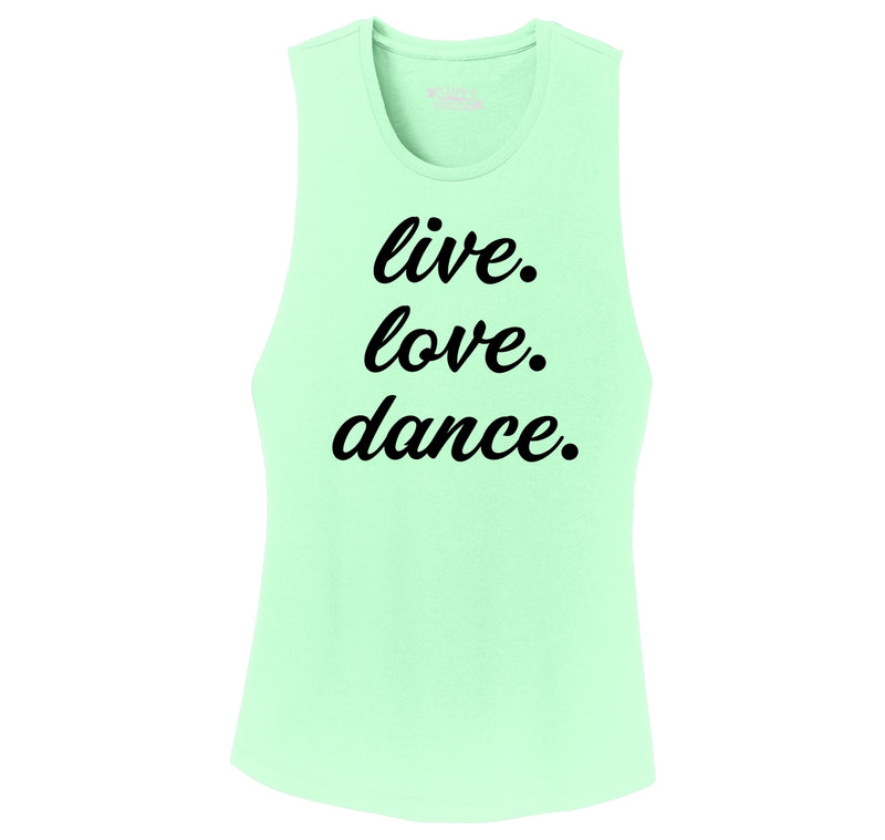 Live Love Dance Ladies Festival Tank Top