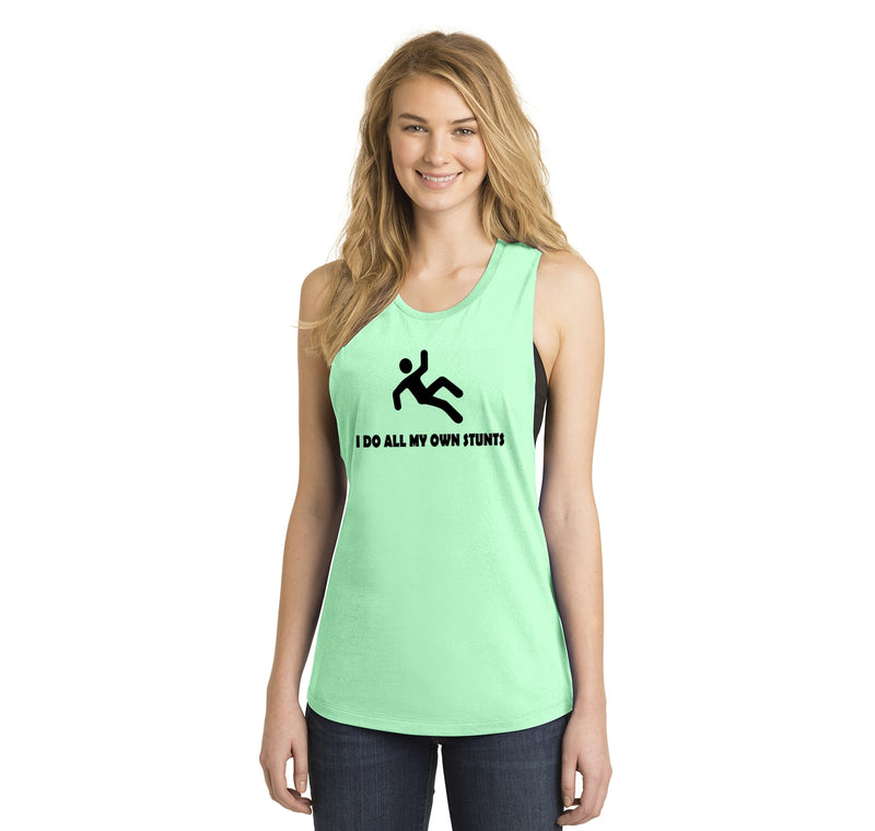 I Do All My Own Stunts Ladies Festival Tank Top